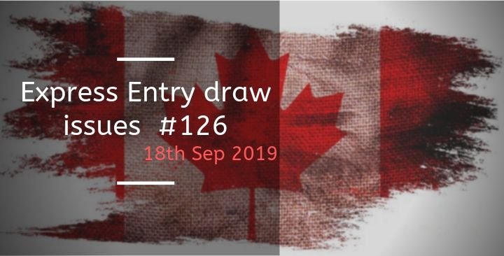 Express Entry draw issues – 18th Sep 2019