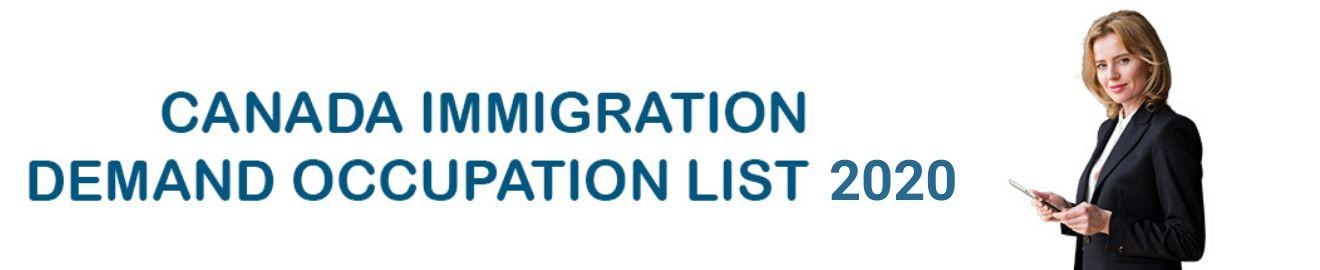 Canada Occupation Demand list