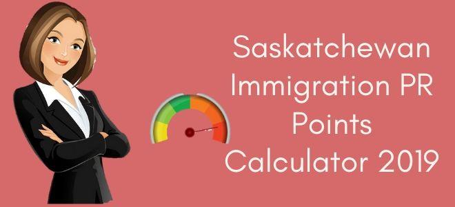 Saskatchewan Immigration PR Points Calculator