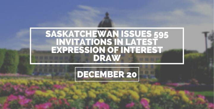 595 invitations in latest Expression of Interest draw are issued by Saskatchewan