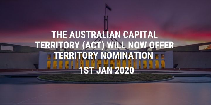 The Australian Capital Territory (ACT) will now offer Territory nomination