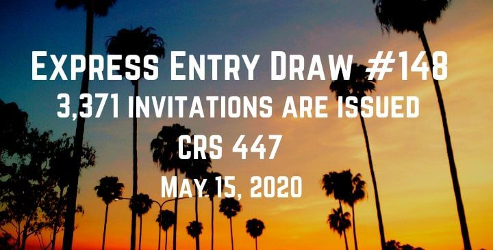CRS (447) drops again Under Express Entry Draw – 15th May 2020