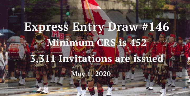 CRS score drops again in latest Express Entry draw – 2nd May 2020