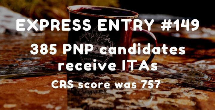 Express Entry: 385 PNP candidates receive ITAs – 27th May 2020