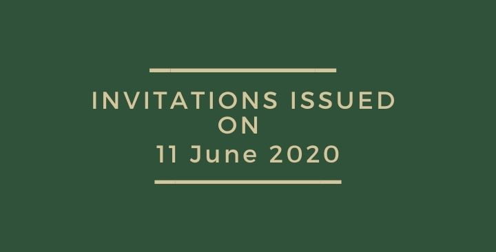 Invitations issued on 11 June 2020